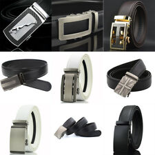 Big Sale Casual Genuine Leather Automatic Buckle Mens Belt Waistband Strap