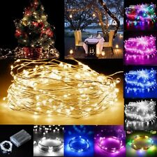 LED Battery Rice Micro Wire Strip Light Fairy Lights String Lamp Sun Battery