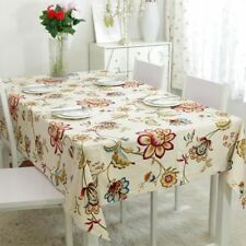 New Design Solid Pattern Cotton Fabric Colorful Flower Printed Table Cloth