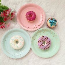8pcs 7inch Lovely Disposable Paper Plates Dishes Utensils Paper Tableware