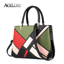 ACELURE Women Handbags Fashion Patchwork Messenger Bag Soft Leather Shoulder Bag