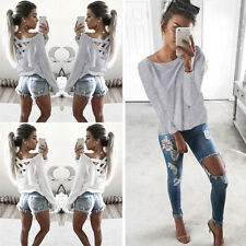Long Sleeve Shirt New Fashion Blouse Tops Casual T Shirt Womens Loose
