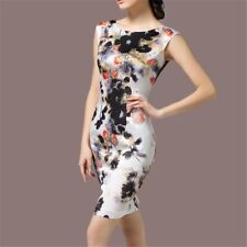 Women Spring Summer Sleeveless Vintage High-end Floral Dress Plus Size