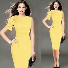 Fashion Ruffle Sleeve Ruched Fitted Stretch Pencil Dress For Women