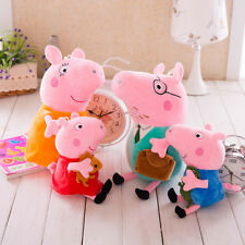 4PCS Peppa Pig Family George Daddy Mummy 30cm 25cm Plush Soft Toys Characters