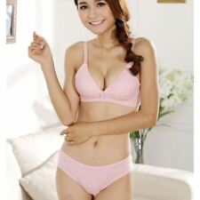 Women New Fashion Cotton Half Cup(1/2 Cup) Adjusted Strap Bra Set