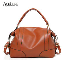 ACELURE Classic Soft Leather Handbags Big Women Tote Zipper Ladies Shoulder Bag