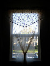 """Floral Lace Curtains/Panels/Sheers Bedroom Dining Room, Ivory, Beige, 84"""" x 54"""""""