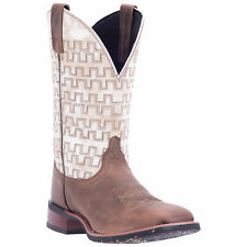 Laredo Mens Sand/White Cowboy Boots Leather Cowboy Boots Square Toe