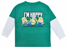 Despicable Me Minions Happy Toddler Boys Long Sleeve Graphic Shirt