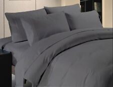 Grey Color Set 100% Egy Cotton Twin Queen King Size Pillowcase Quilt Cover Duvet