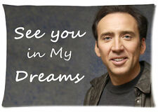 "Custom Pillow Case on Nicolas Cage See You In 20""x30""/16""X24"" one side/two side"