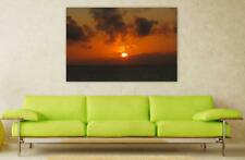 Canvas Poster Wall Art Print Decor Ocean Norway Sunset Sky Dawn Dusk