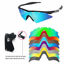 Nose Piece + Polarized Replacement Lenses For-Oakley M Frame Sweep Vented-Option