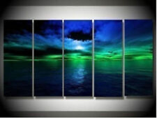 5PC MODERN ABSTRACT HUGE WALL ART OIL PAINTING ON CANVAS no framed