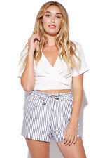New LUCK & TROUBLE Womens Bag Shorts Stripe