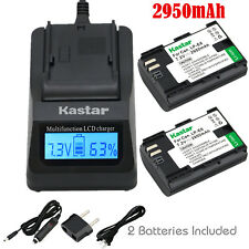 Kastar 2 Battery & Fast Charger kit for Canon LP-E6 LP-E6N LPE6 LPE6N LC-E6