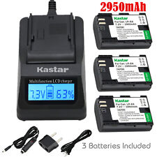 Kastar 3 Battery & Fast Charger kit for Canon LP-E6 LP-E6N LPE6 LPE6N LC-E6