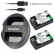 Kastar 2 Battery & Dual USB Charger for Canon LP-E6 LP-E6N LPE6 LPE6N LC-E6