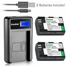 Kastar 2 Battery & LCD-1 USB Charger for Canon LP-E6 LP-E6N LPE6 LPE6N LC-E6