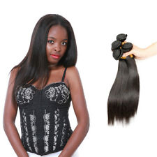 Indian Straight Hair 100% Human Hair Weave 4Bundles Remy Hair Extension US STOCK