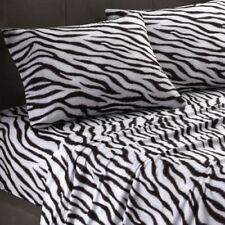 New Sizes / Items / Free Ship { Black & White Zebra Print } 100% Cotton 1000TC