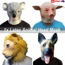 Animal Bird Head Mask Latex Prop Animal Cosplay Costume Rubber Party Halloween B
