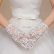 Women Wedding Party Evening Lace Floral Gloves Bridal Gloves Sunscreen FF