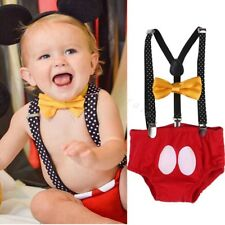 Suspender and Bow Tie Set for Unisex Kid Boys Girls Teens Wedding Adjustable
