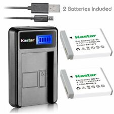 Kastar 2 Battery & LCD-1 USB Charger for Canon NB-6L NB6L NB-6LH NB6LH CB-2LY