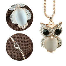 Necklace Animal Jewelry Long Sweater Chain Owl Rhinestone Crystal Pendant Women