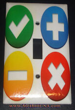 + - X Math kids icon Toggle Rocker Light Switch Duplex Outlet Cover Plate decor