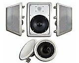 Acoustic Audio HT-85 5.1 Home Theater Speaker System White Speakers Subwoofers