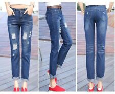 Women Size 26-34 Fashion Large Size Ankle-length Casual Loose Jeans