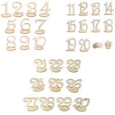 10pcs Wooden Table Numbers 1-30 Freestand Wedding Table Centerpiece Decoration