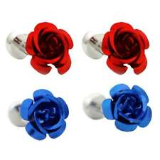 Fancy Rose Flower Cufflinks Mens Shirt Suit Wedding Party Cuff Links Gifts
