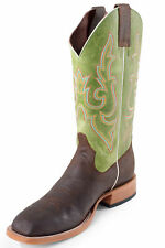 Horse Power by Anderson Bean Mens Kiwi Leather Bucko Cowboy Boots