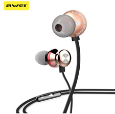 Awei® ES-980HI Multi-color Headphone with Microphone Stereo Earphone Super Bass