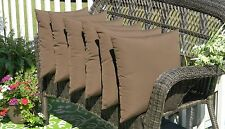 """Set of 6  20"""" Decorative Throw Pillows Indoor Outdoor Fabric-Choose Solid Colors"""