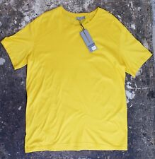 New Dior Homme Golden Yellow T Shirt With Stitch Detail Size XXL BNWT RRP £140