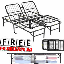 Adjustable Bed Frame Head Foot Twin Full Queen Cal King Base Steel Storage New