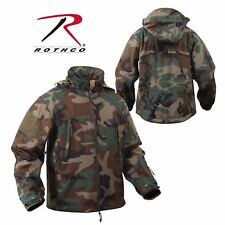 Rothco Special OPS Tactical Soft Shell Jacket w Waterproof Shell, Woodland Camo