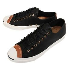 Converse Jack Purcell Jack Black White Leather Mens Womens Casual Shoes 150293C