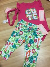 NWT Gymboree baby girl CUTE pink floral outfit 3-piece SET 3 6 12 18 month TWINS