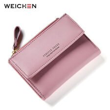 New Hasp & Zipper Short Standard Wallet PU Leather Solid Coin Card Purse Wallets