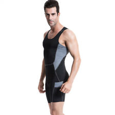 Men Workout Gym Polyester Muscle Quick-dry Elastic Bodybuilding Tank Top Vest