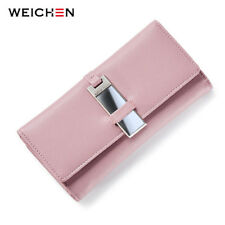 WEICHEN New Clutch Wallet for Women Carteira Lady Clutch Coin Purse Card Holder
