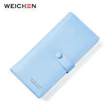 WEICHEN Clasp Women Wallets Coin Purse Card & ID Holders Clutches Leather Wallet