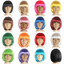 Women Lady Short Straight Hairs Piece Hair Custume Cosplay Patry Wigs 15 Colors