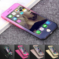 Ultra Thin 360° Full Body Protective Case For iPhone 10 X 8 7 6S +Tempered Glass